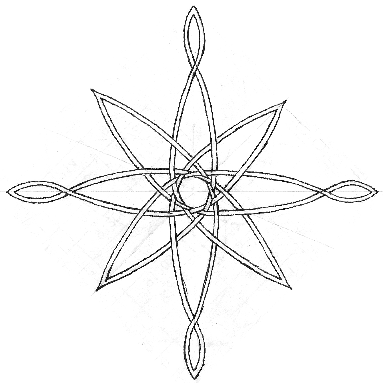 1340x1340 Compass Rose Sketch By Tat Board