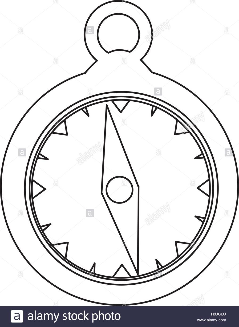 1015x1390 Simple Compass Icon Image Vector Illustration Design Stock Vector