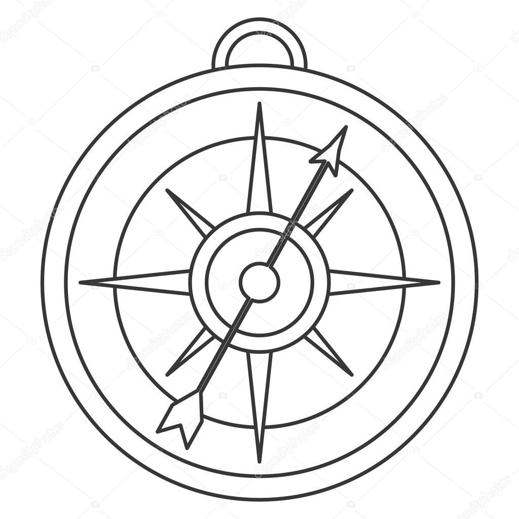 1024x1024 Simple Compass Icon Stock Vector Jemastock