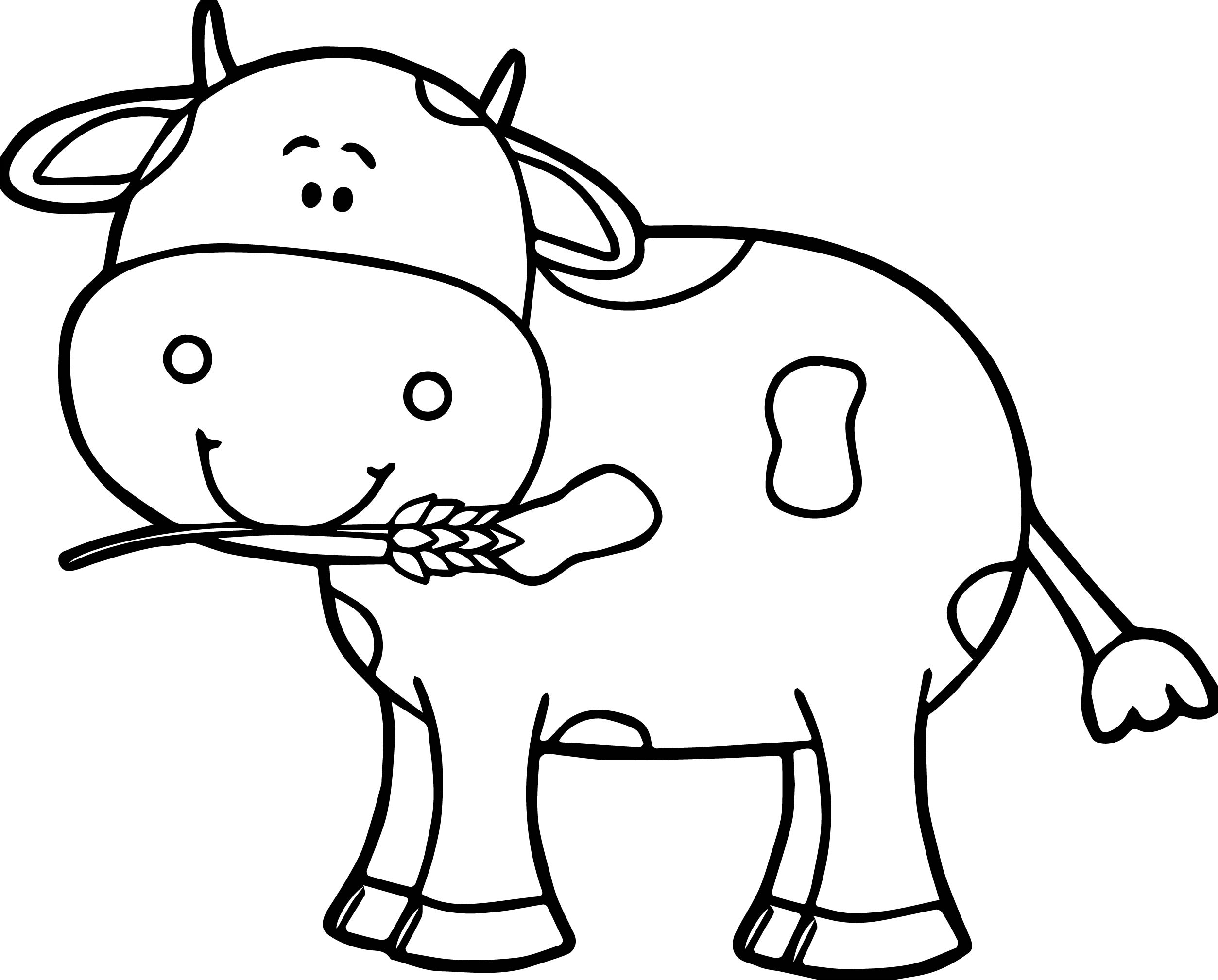 Simple Cow Drawing at GetDrawings   Free download