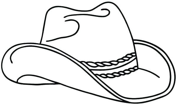 Simple Cowboy Hat Drawing At Getdrawings Com Free For
