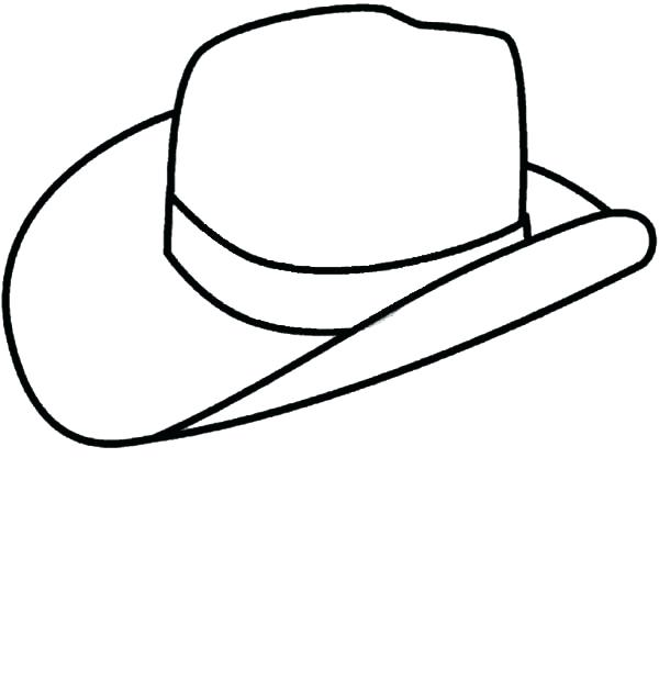 600x620 Cowboy Hat Coloring Page Cowboy Hats Coloring Pages Free Printable