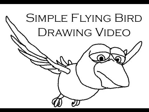 480x360 How To Draw A Cartoon Flying Bird
