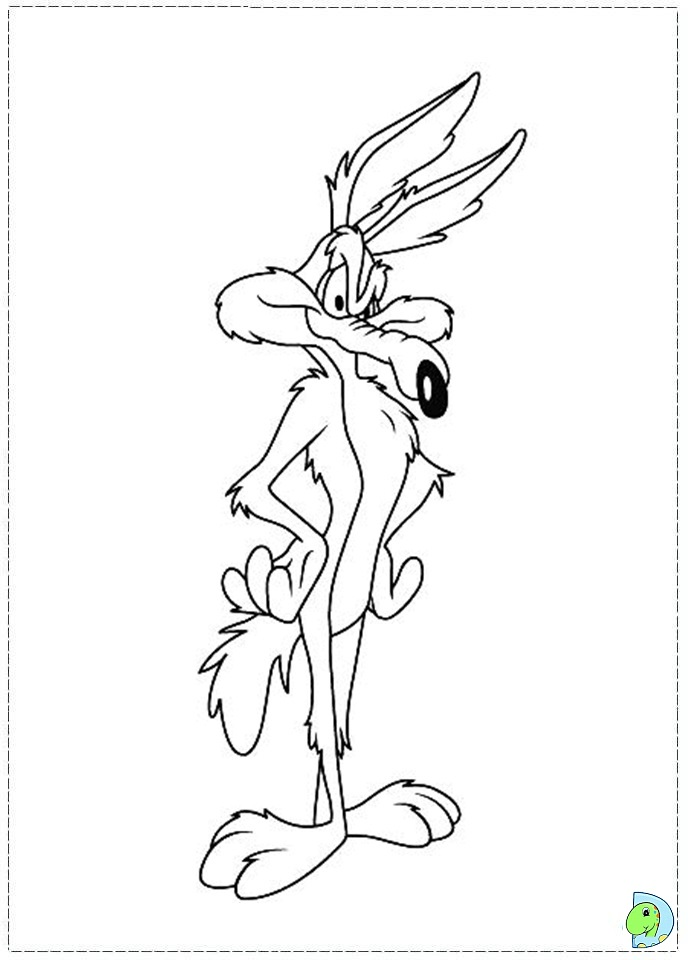 691x960 Wile E. Coyote Ez Easy Coloring Pagez Cartoon