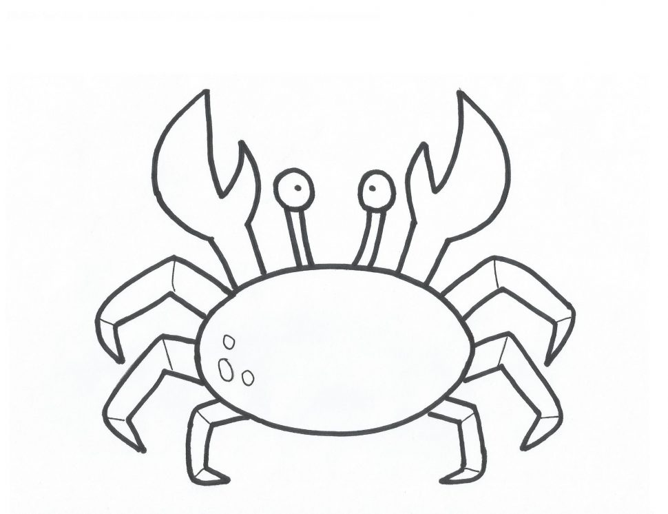 Simple Crab Drawing at GetDrawings.com | Free for personal use ...