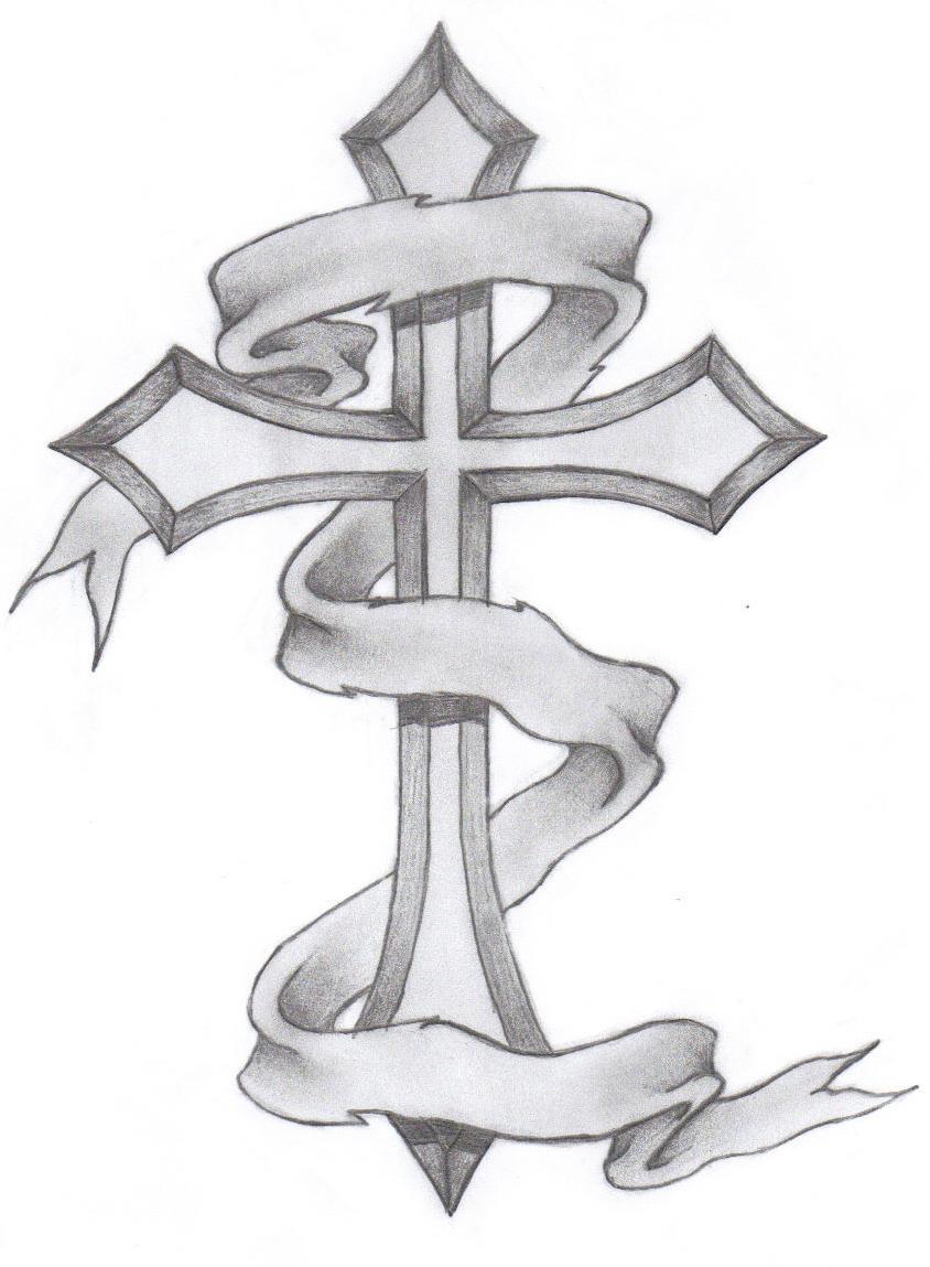 844x1149 Simple Cross Sketching Pencil Simple Cross Sketching
