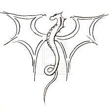 Simple Crow Drawing