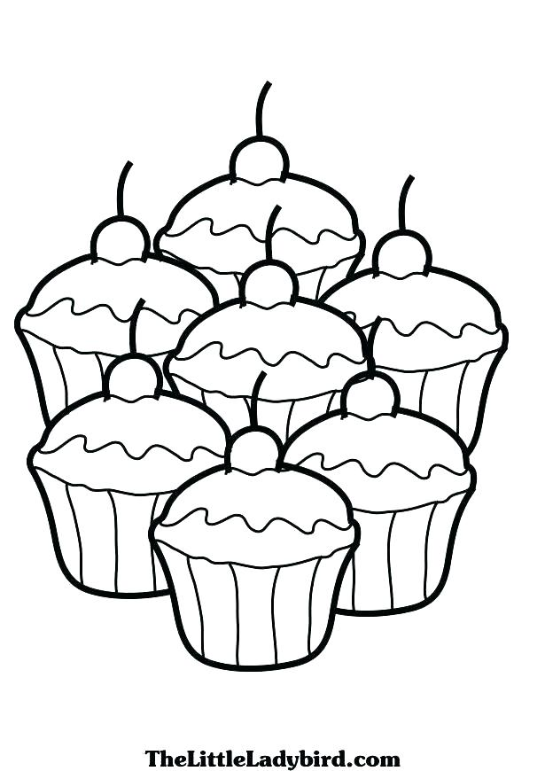 Simple Cupcake Drawing at GetDrawings.com | Free for personal use ...