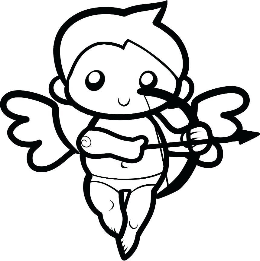 860x865 Cupid Coloring Page Valentines Valentines Day Cupid Coloring Kids
