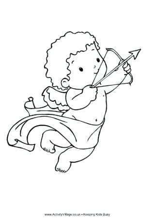 320x454 Cupid Coloring Pages Cupid Colouring Page Simple Cupid Coloring