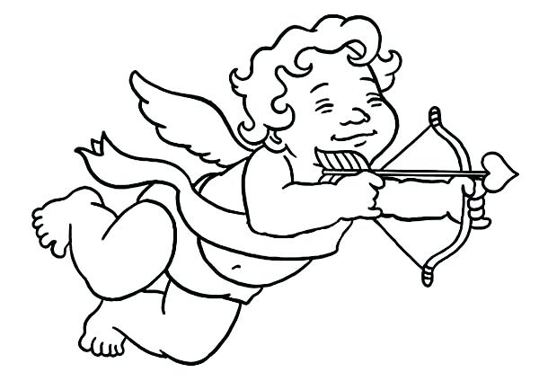 600x424 Cupid Coloring Pages Little Boy Cupid Coloring Page Simple Cupid