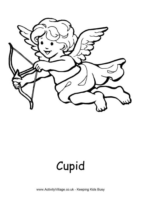 460x650 Cupid Colouring Page 3