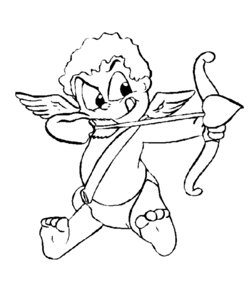505x578 Cupid And His Arrow Coloring Page Amp Coloring Book