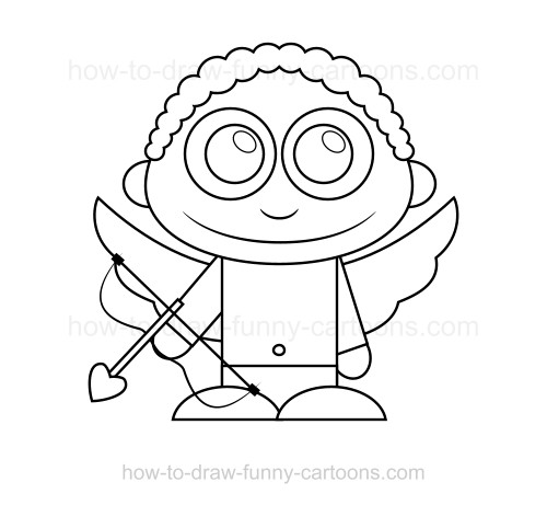 500x461 How To Draw Cupid