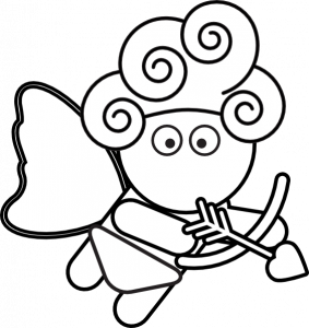 283x300 Coloring Pages Appealing Simple Cupid Drawing 05 Easycupid