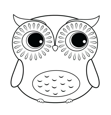 465x480 Baby Owl Coloring Pages To Print Cute Snapshot