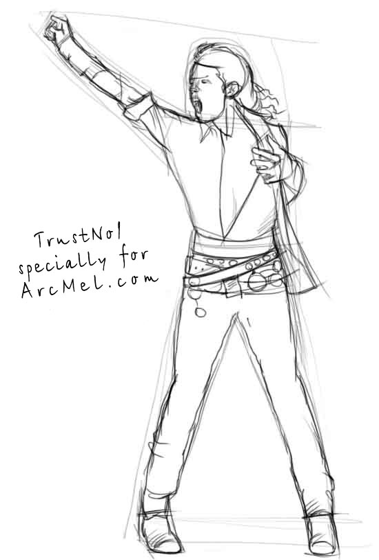 550x812 How To Draw Michael Jackson Step By Step