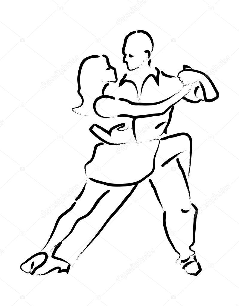 799x1024 Simple Loop Vector Dancing Couple Stock Vector Jodo19