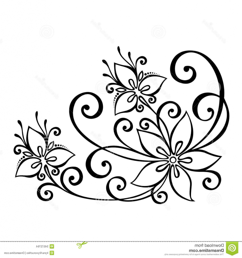 958x1024 Flower Design Drawing On Paper Pictures Simple Flower Designs