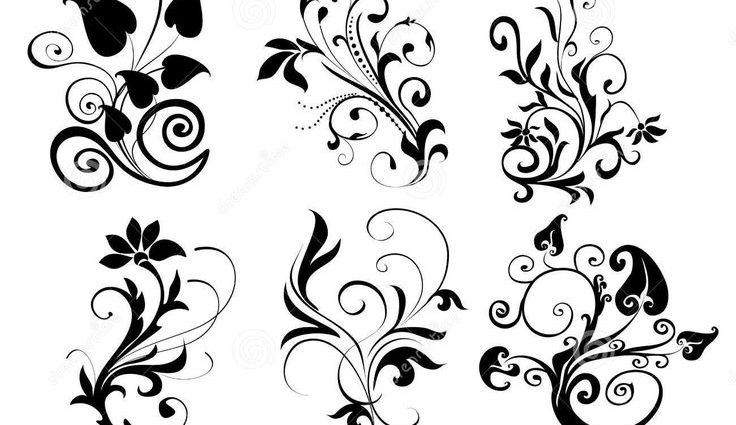 Black Line Flower Drawing : Bouquet garden flowers leaves vintage style stock photo