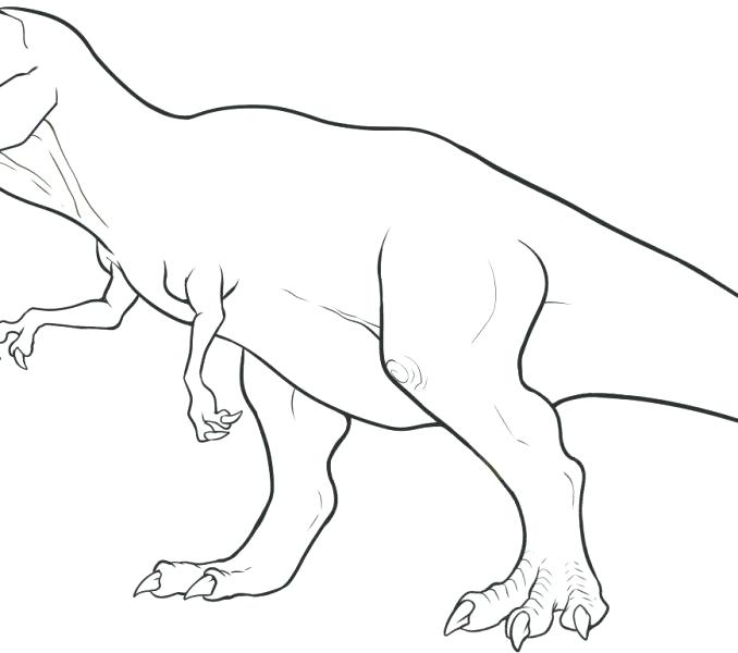 Simple Dinosaur Drawing at GetDrawings.com | Free for personal use ...
