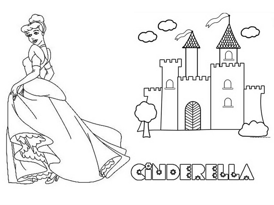 Simple Disney Castle Drawing at