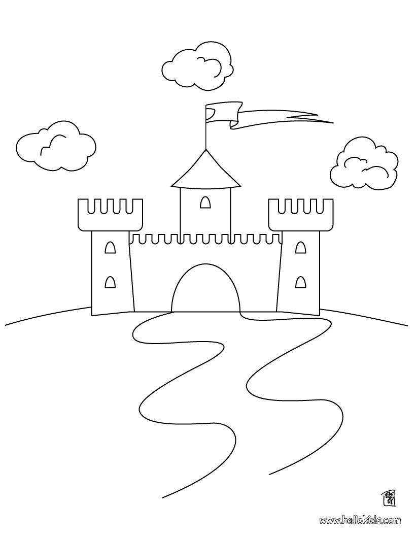 kids castle drawings