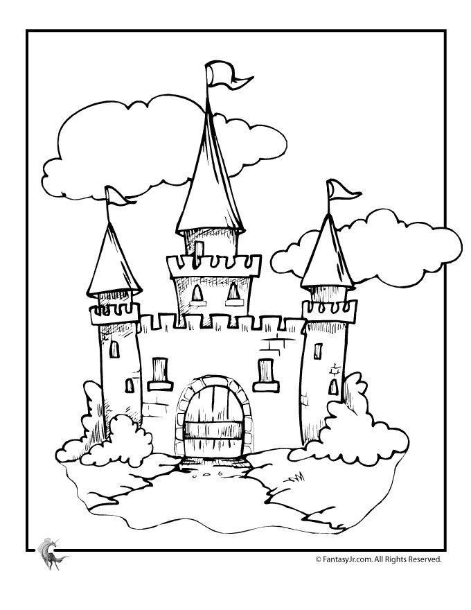 Simple Disney Castle Drawing at GetDrawings.com | Free for personal ...