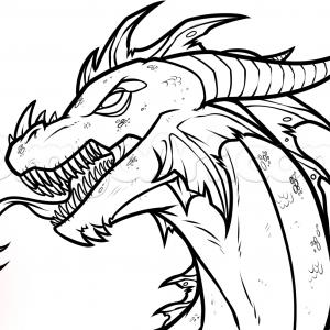 300x300 Adult Dragon Drawings Easy Dragon Drawings Easy. Dragon Drawings