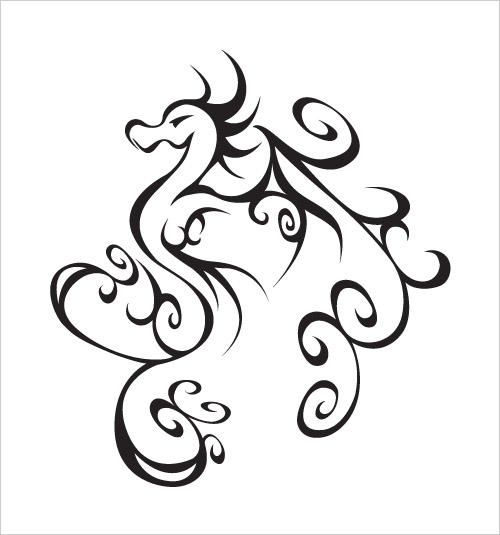Simple Dragon Line Drawing At Getdrawings Com Free For Personal