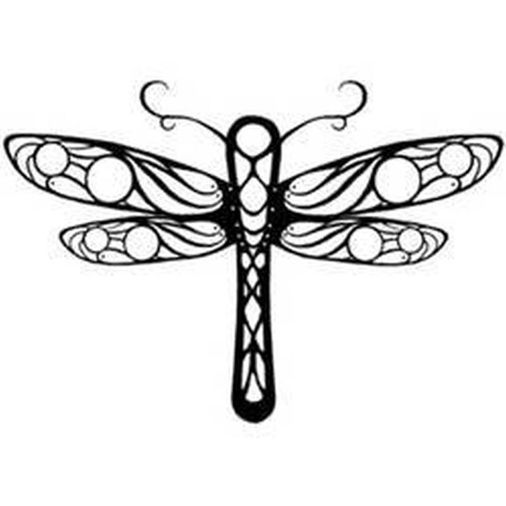Simple Dragonfly Drawing
