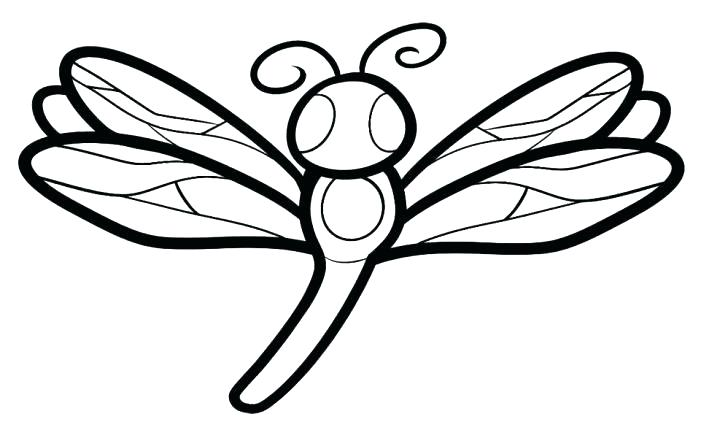 Simple Dragonfly Drawing at GetDrawings.com | Free for personal use ...