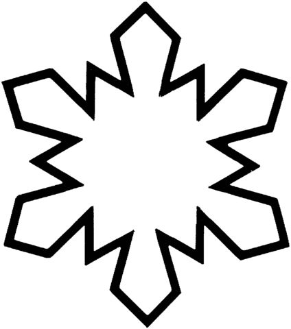424x480 Coloring Pages Snowflake Easy To Draw Snowflake Easy To Draw