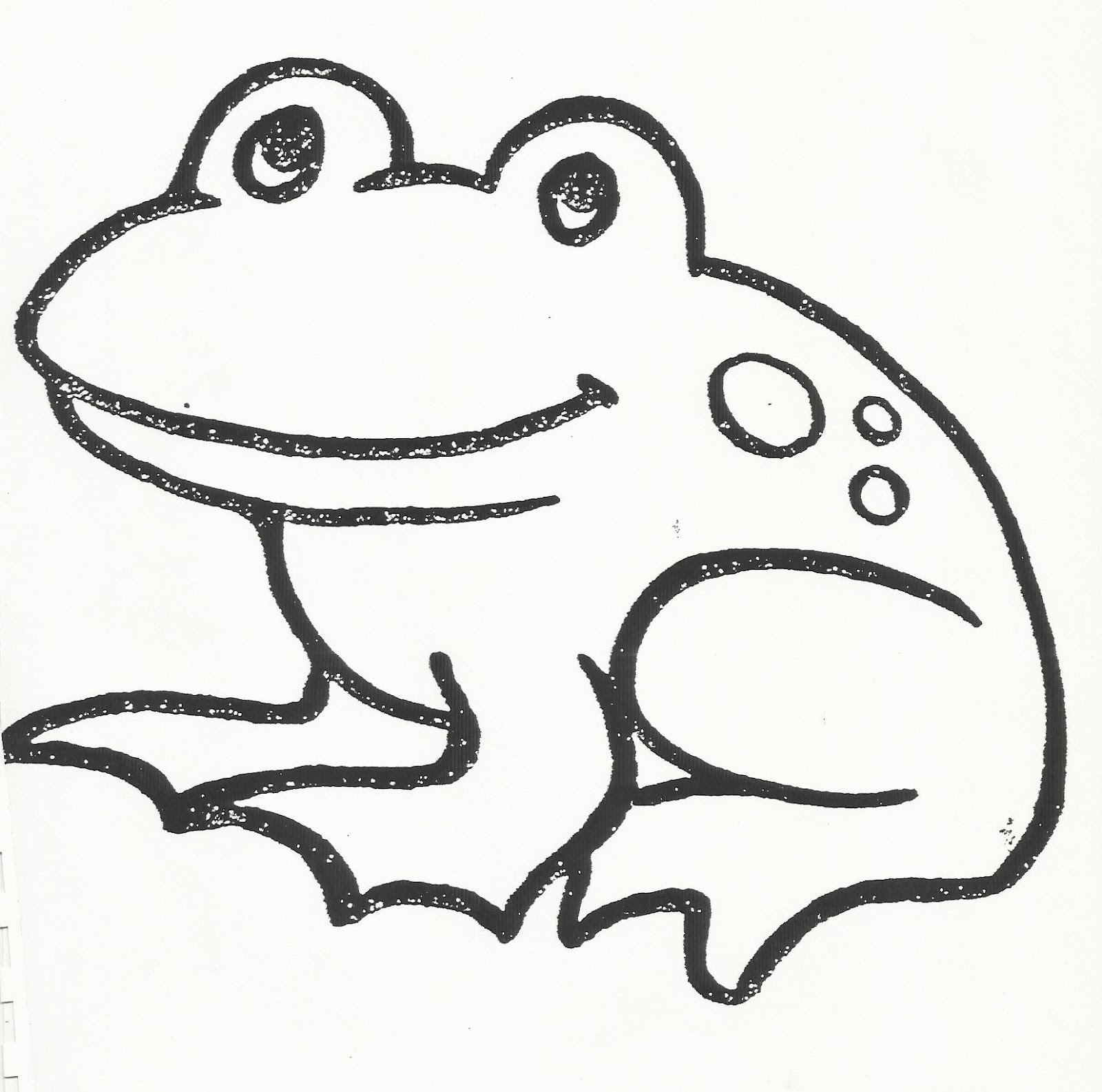 Simple Drawing Frog