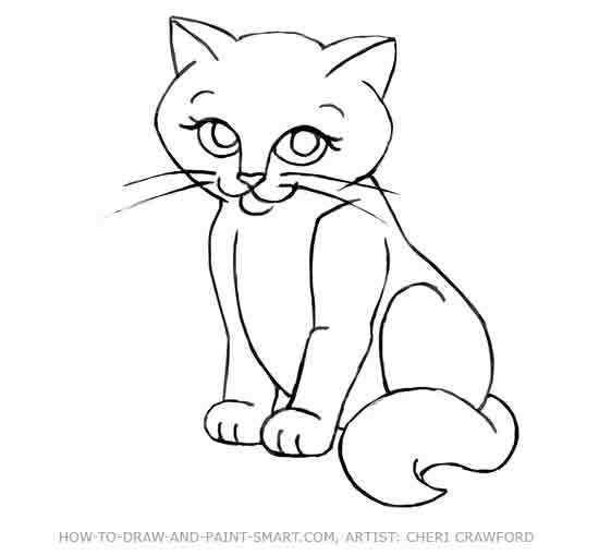550x509 Daring Cats Drawing Pictures Best 25 Cat Ideas On Simple
