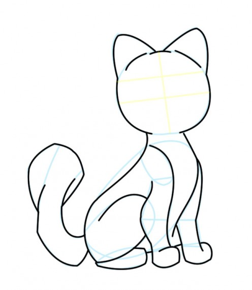 496x570 Kittens Clipart Simple Cartoon