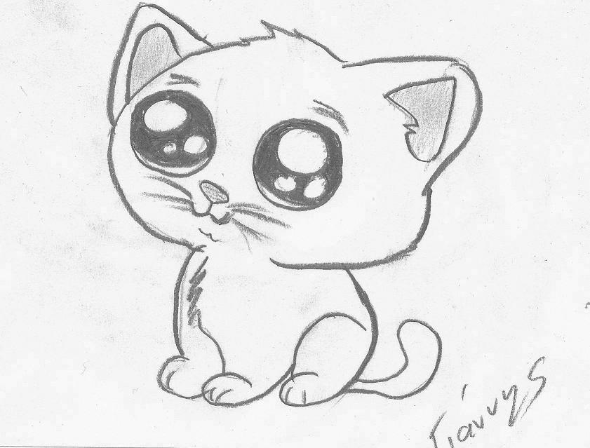 841x639 Cute Cat Drawings By Giannis Ka Simple Drawing