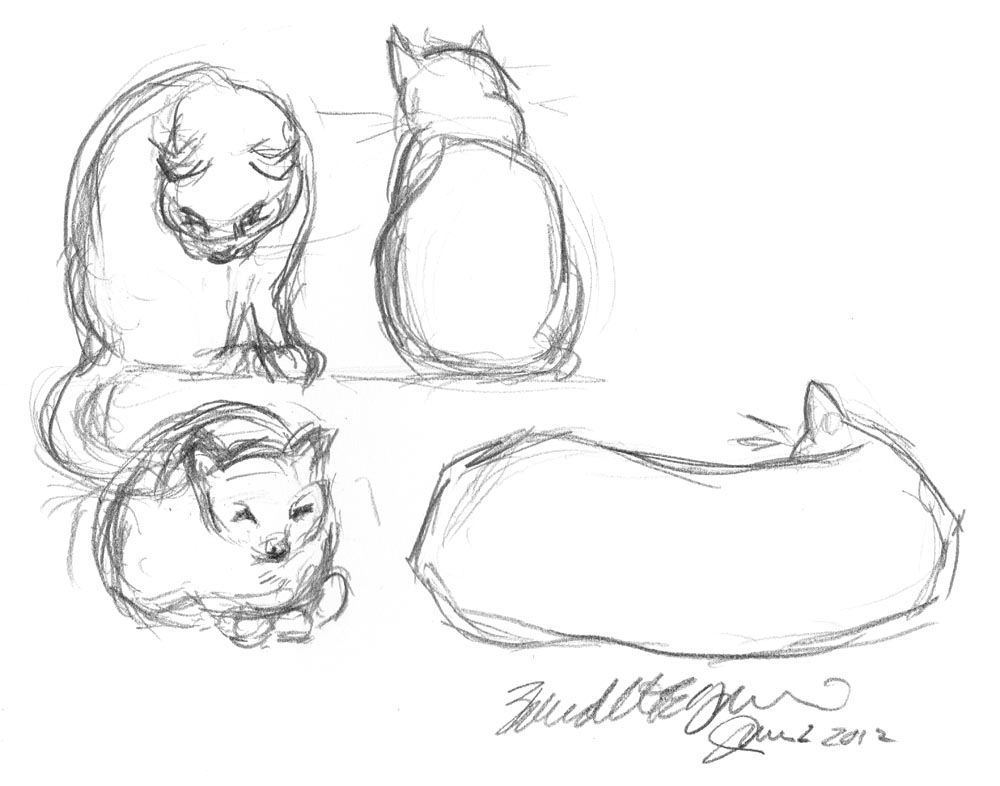 1000x786 Daily Sketch Easy Like Sunday, The Sketch ~ The Creative Cat