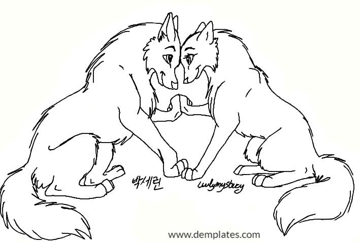 709x477 Wolf Love Drawings