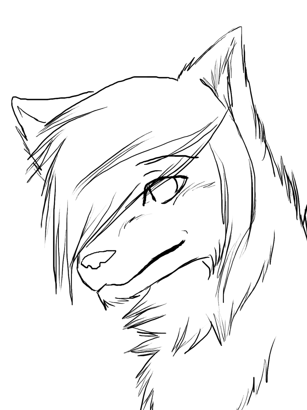 1024x1365 Easy To Draw Anime Wolf