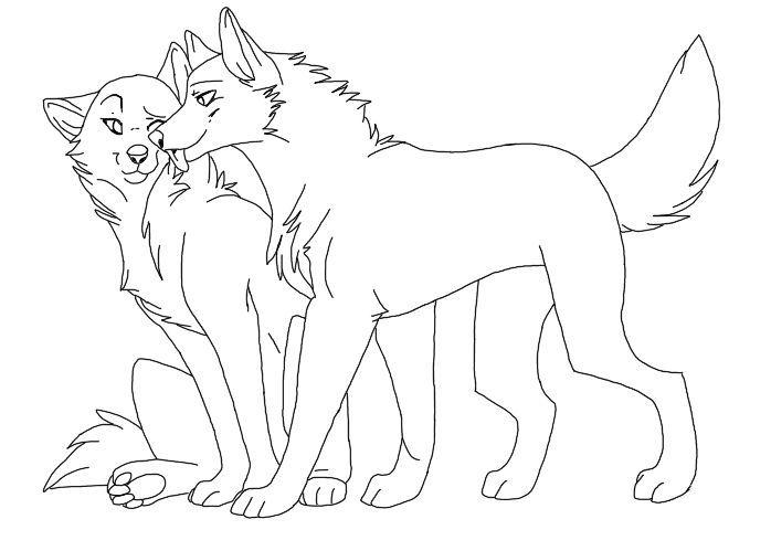 698x499 Drawn Anime Wolf