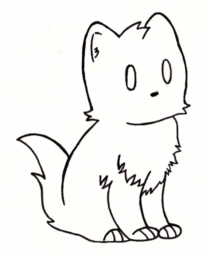 833x1024 Cat Drawing Simple Simple Drawing Of Cat Cute Cat Drawing Simple