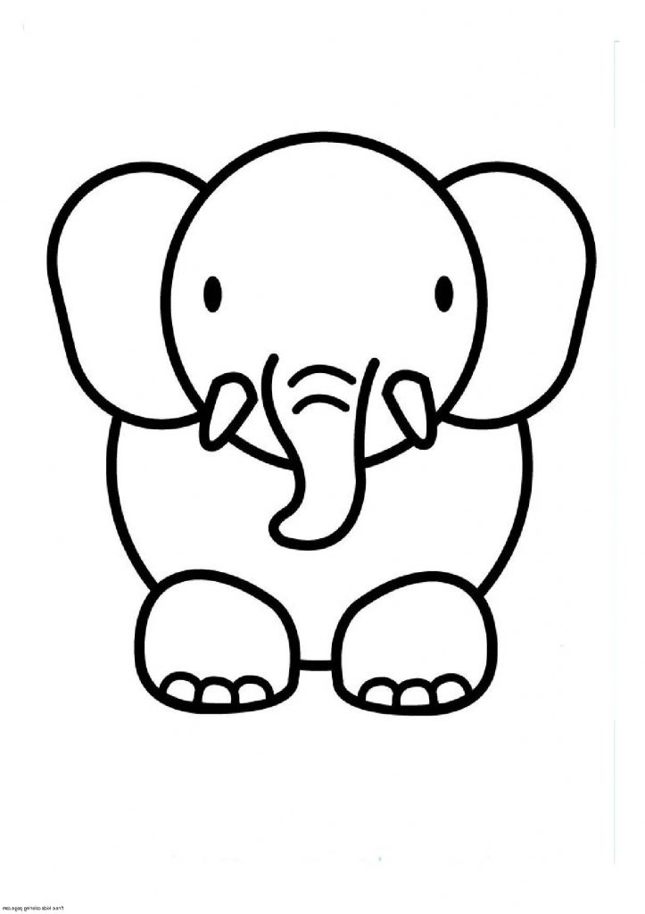 Simple Drawing Of Elephant