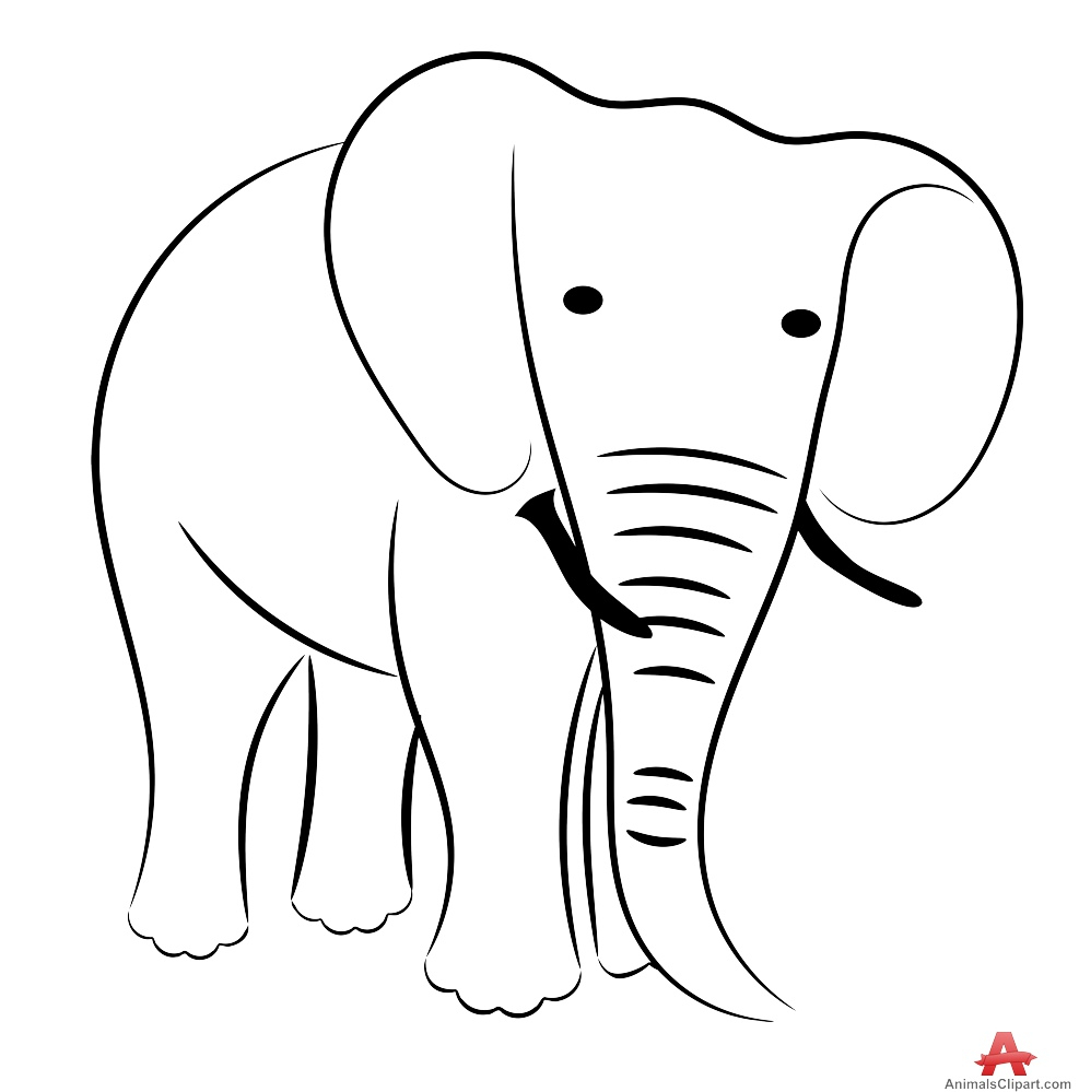 987x999 Elephant Drawing Outline Simple Drawing Of Elephant Simple