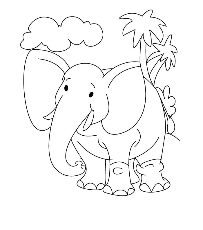 700x792 Elephant Template
