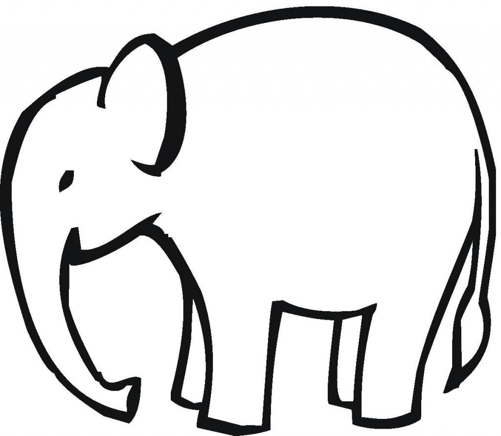 1024x891 Simple Elephant Clipart Outline
