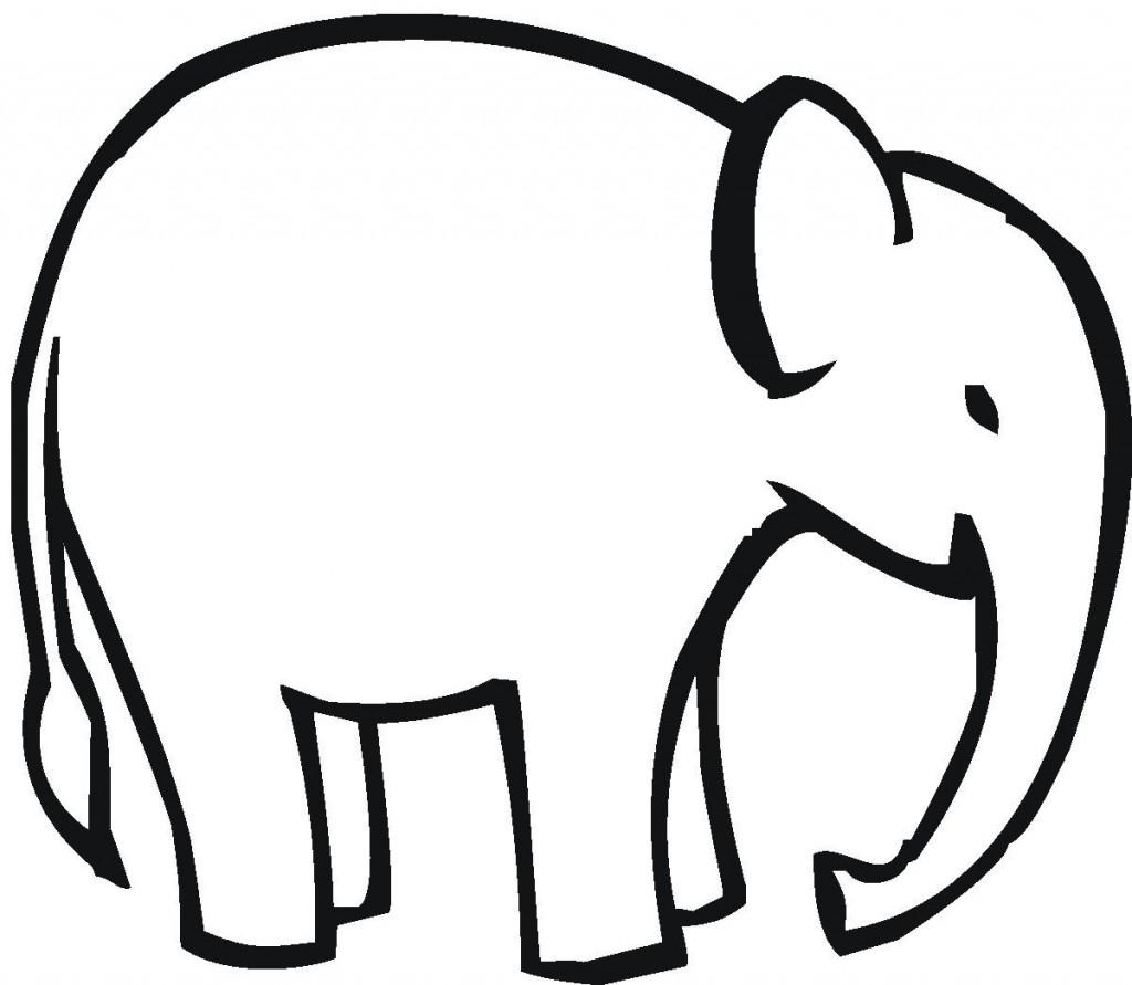 1024x891 Simple Elephant Drawing