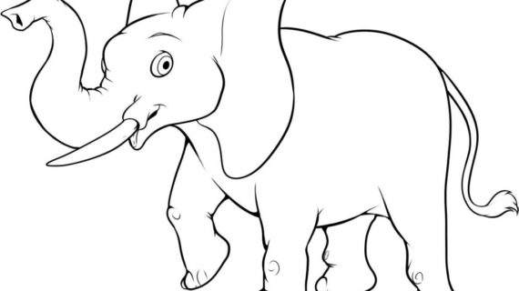 570x320 Simple Elephant Drawing How To Draw An Easy Elephant Step Step