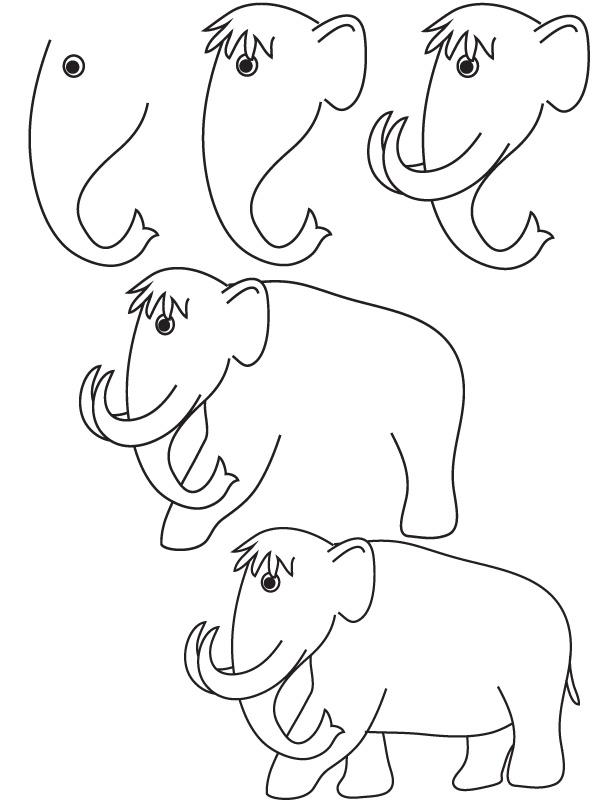 600x800 Drawing Mammoth