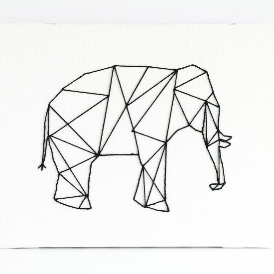 550x550 Drawn Elephant Straight Line